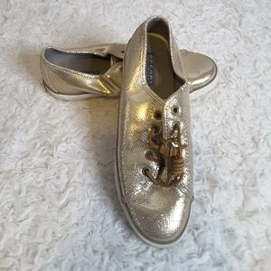 Sperry Seacoast Metallic Python Embossed Sneaker